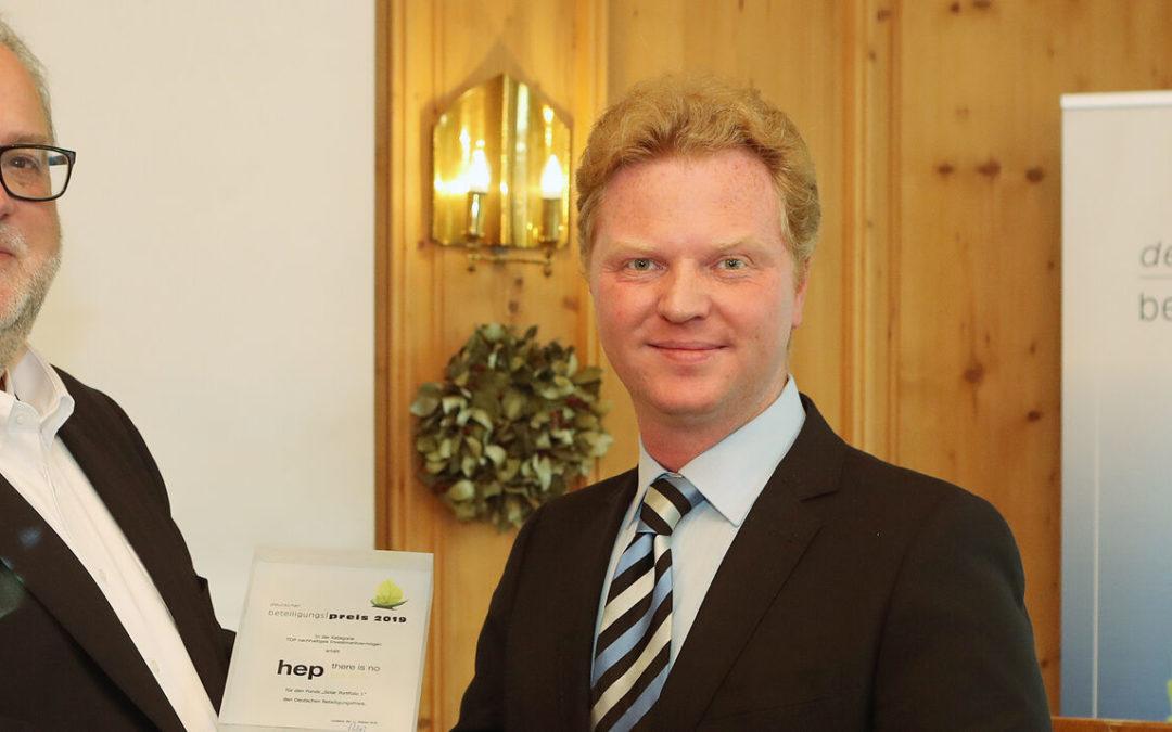 Deutscher BeteiligungsPreis für HEP — Solar Portfolio1
